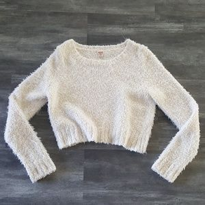 White Fur Detailed Mossimo Sweater Long Sleeve
